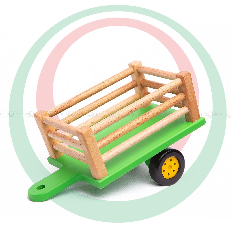 Игрушка деревянная «Синий трактор с прицепом» | Фабрика ...