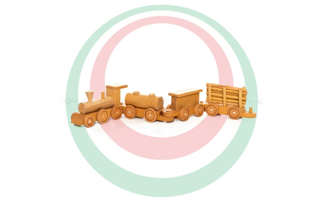 Игрушка деревянная «Паровозик»