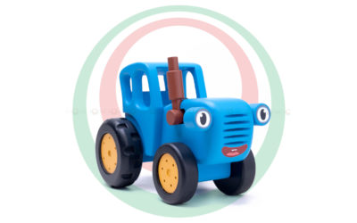 Игрушка деревянная «Синий трактор»